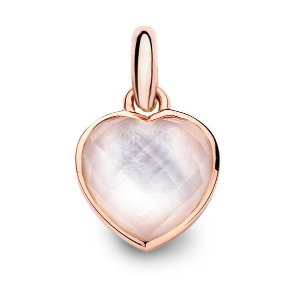 Copacabana Charm 18K Rose Gold with Pink Smoky Quartz