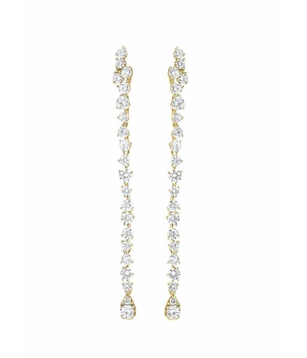 Casato Miss Chi Earring Drops Diamond long