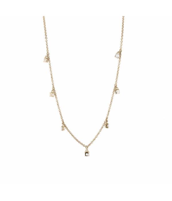 Schaap en Citroen Diamonds Collier met 7 Diamanten Roségoud