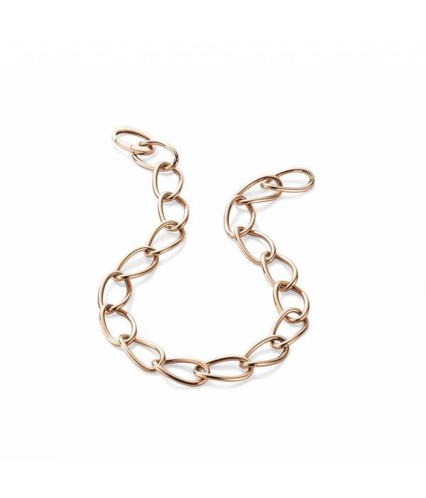 SC Jewellery Collier Ovale Schakel met Slag Roségoud