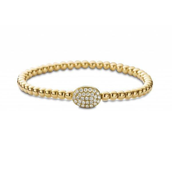 armband met diamanten bolletje geelgoud