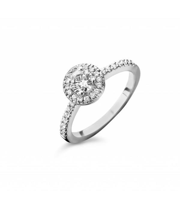 SC Jewellery Ring Entourage met Diamant Witgoud