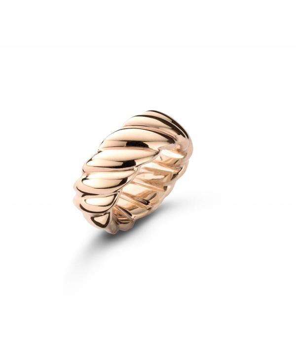 Schaap en Citroen Essentials Ring Twisted Small Rose Gold