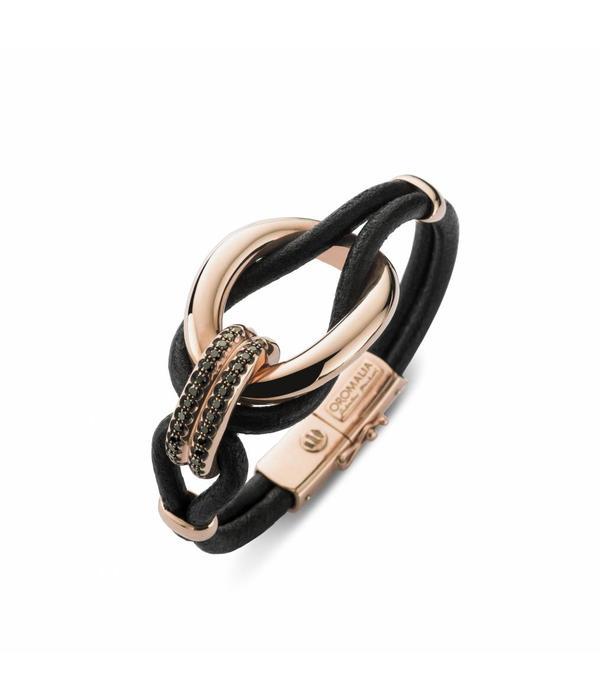 Oromalia rosegouden armband Cuoio
