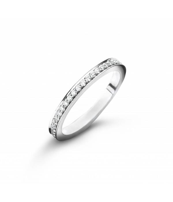 Royal Asscher ring riviere White Gold