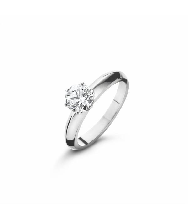 SC Jewellery Ring Solitair 6-Poot Hoog met Diamant Witgoud