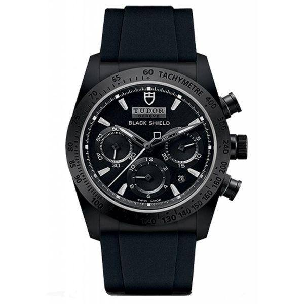 Fastrider Black Shield Horloge Keramiek / Zwart / Leder