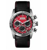 Tudor Fastrider Chronograph Horloge Staal / Rood / Leder