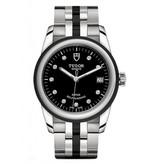 Tudor Glamour Date 36mm Horloge Staal / Zwart / Keramiek
