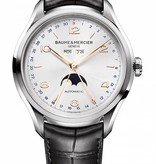 Baume & Mercier Clifton XL 43mm Horloge Staal Zilver / Alligatorleder
