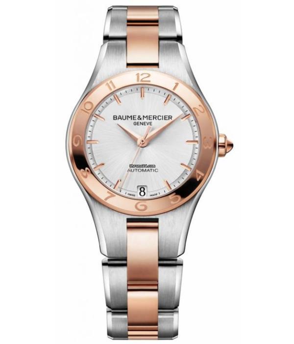 Baume & Mercier Linea 32mm Horloge Staal, Goud Zilver / Staal
