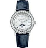Blancpain Complete Calender Moon Phases 34mm Horloge Staal Parelmoer / Alligatorleder