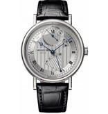 Breguet Classique Chronométrie Horloge Witgoud Zilver / Alligatorleder