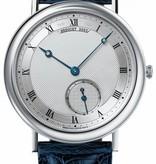 Breguet Classique Horloge Witgoud Zilver / Crocoleder