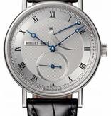 Breguet Classique Réserve de marche Horloge Witgoud Zilver / Crocoleder