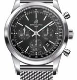 Breitling Transocean Chronograph Horloge Staal Zwart / Staal