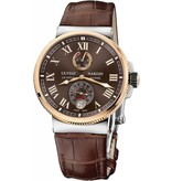 Ulysse Nardin Marine Chronometer Manufacture 43mm Staal / Roségoud / Alligatorleder