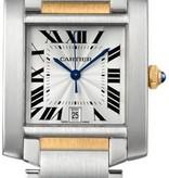 Cartier Tank Francaise LM 32mm Horloge Staal / Geelgoud / Zilver