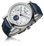 Christiaan v.d Klaauw Ariadne 40mm Horloge Staal / Wit / Alligatorleder