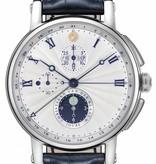 Christiaan v.d Klaauw Hypernova 44mm Horloge Staal / Zilver / Alligatorleder