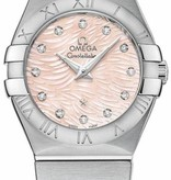 Omega Constellation Horloge Staal / Roze / Staal