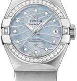 Omega Constellation Horloge Staal / Parelmoer / Blauw