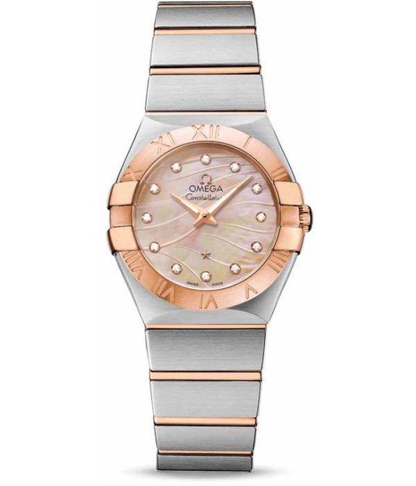 Omega Constellation Horloge Staal / Goud / Roze