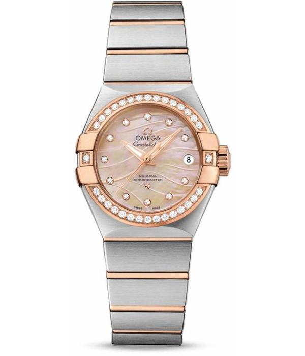 Omega Constellation Horloge Staal / Goud / Roze