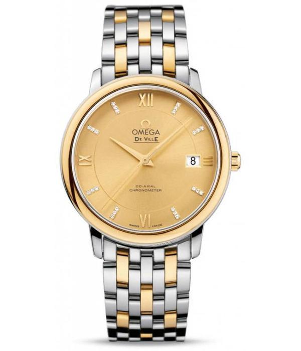 Omega De Ville Horloge Staal / Goud / Bruin