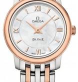 Omega De Ville 24.4mm Horloge Staal / Goud / Parelmoer