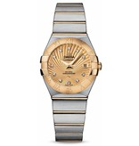 Omega Constellation Horloge Staal / Bruin / Goud