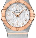Omega Constellation 27mm Horloge Staal /Goud / Parelmoer
