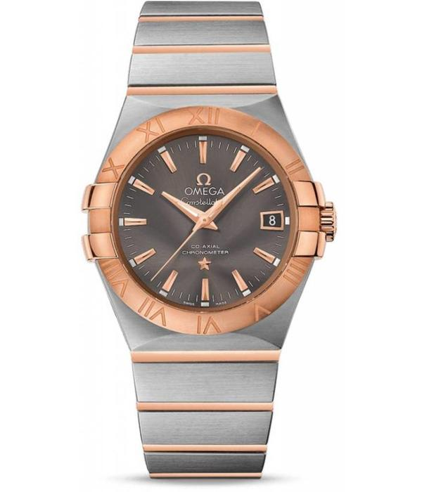 Omega Constellation Co-Axial Automatic Horloge Staal / Goud / Bruin