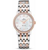 Omega DeVille 27,4mm Horloge Staal / Goud / Parelmoer