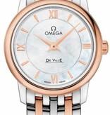 Omega DeVille 27,4mm Horloge Staal / Goud/  Parelmoer