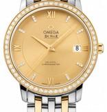 Omega Deville 36,8mm Horloge Staal / Bruin / Goud