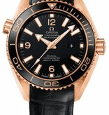 Omega Seamaster Planet Ocean 600M Horloge Roségoud / Zwart / Leder