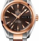 Omega Seamaster Horloge Staal / Goud / Bruin