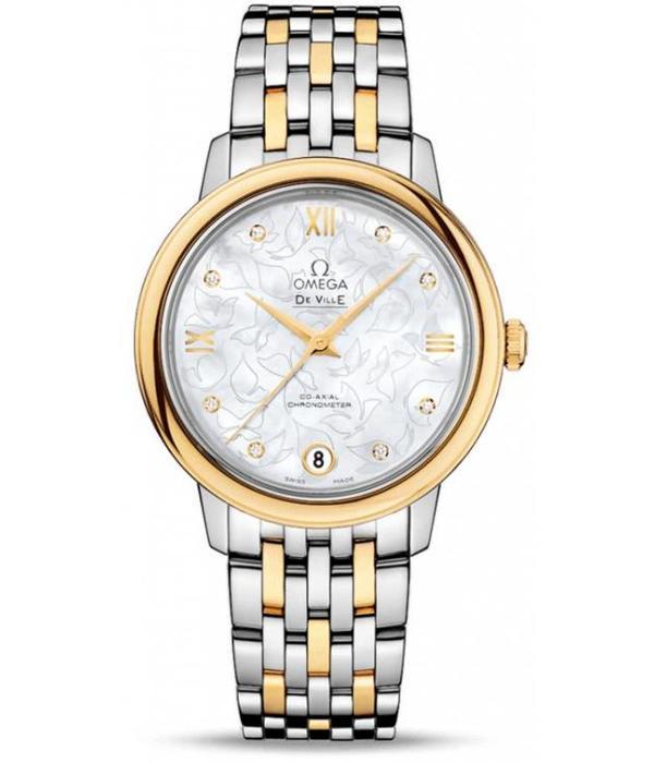 Omega Prestige Horloge Staal / Goud / Parelmoer