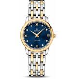 Omega Prestige DeVille 27.4mm Horloge Staal / Zwart /Goud