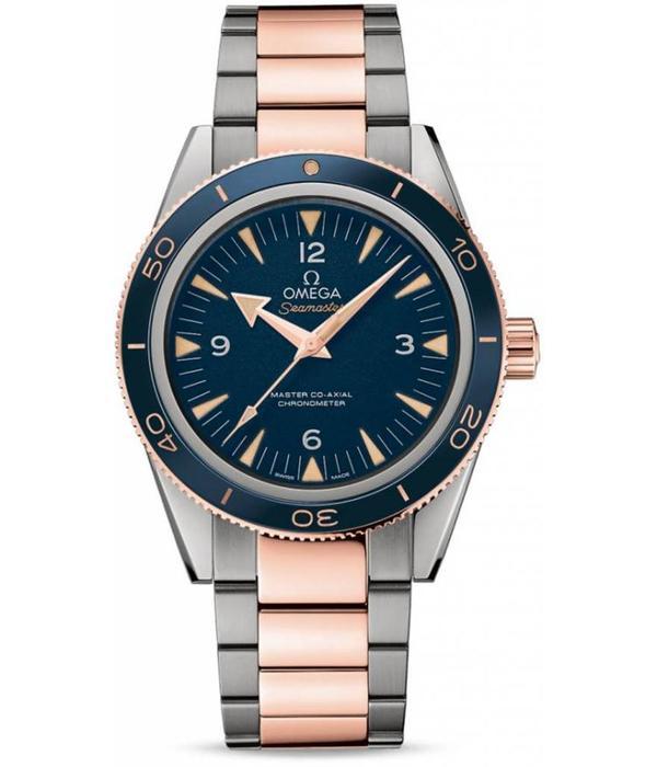 Omega Seamaster Planet Ocean Horloge Titanium /Roségoud / Blauw
