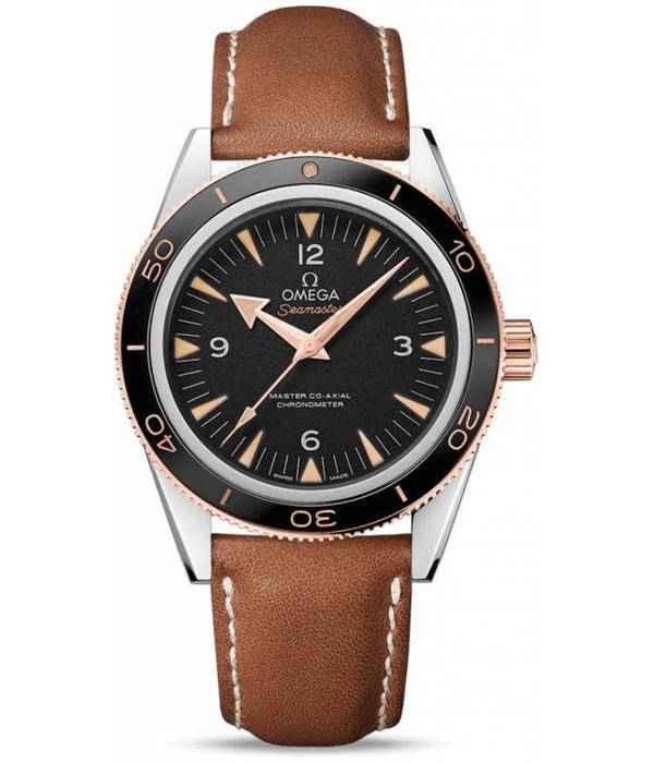 Omega Seamaster Co-Axial Horloge Bicolor Zwart / Leder