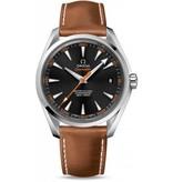 Omega Seamaster Aqua Terra Horloge Staal / Zwart / Kalfsleder