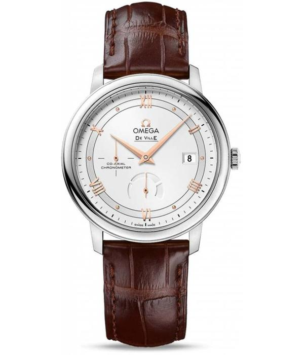Omega Prestige Powerreserve 39.5mm Horloge Staal / Zilver / Alligatorleder