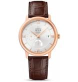 Omega Prestige Power reserve 39.5mm Horloge Roségoud / Zilver / Leder