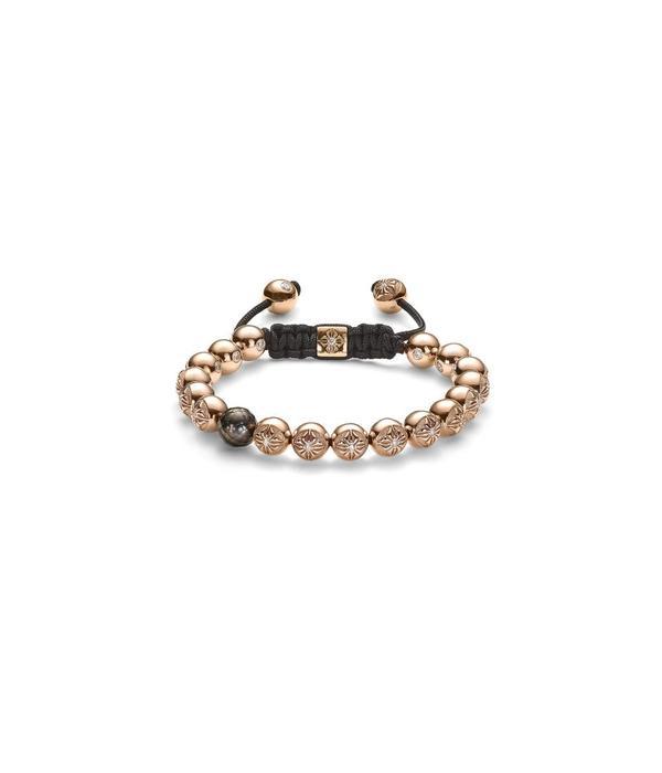 Shamballa Timeless Women 8mm Bracelet Tahiti parels with Rose Gold en Diamonden