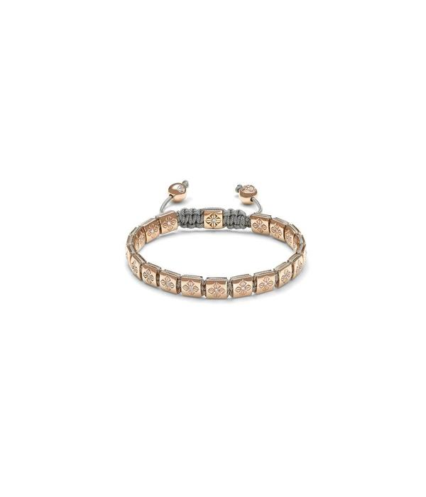Shamballa Timeless Women 6mm Lock Bracelet Rose Gold with White Gold en Diamonden
