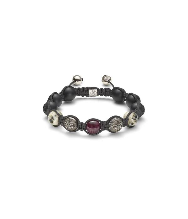 Shamballa Nordic Magic Men 10mm Shamballa Bracelet Black Diamonds, Ruby, Granite, Onyx, 18K Black Rhodium<br /> Plated White Gold
