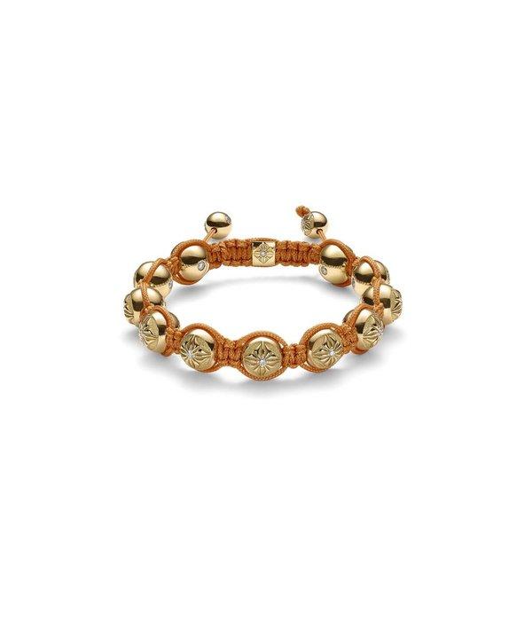 Shamballa Inner Radiance Men 10mm Shamballa Bracelet White Gold, Diamonds, 18K Yellow Gold