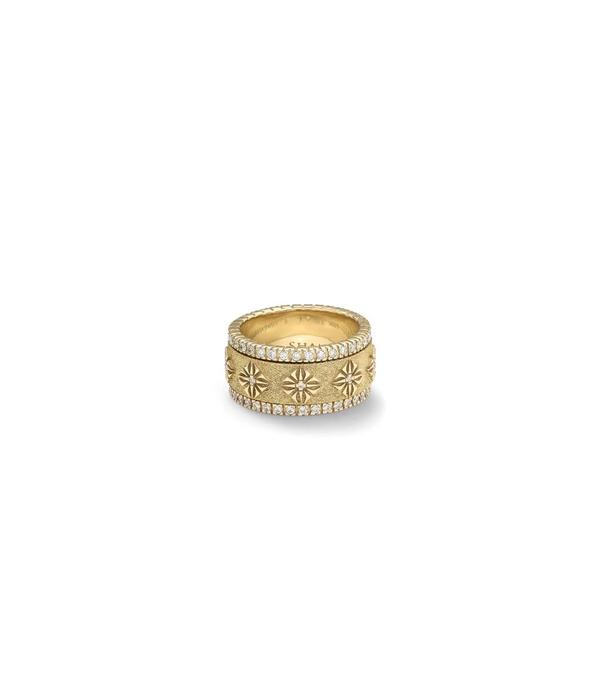 Shamballa Inner Radiance Men SOS Spinner Diamond White Gold, Diamonds, 18K Yellow Gold